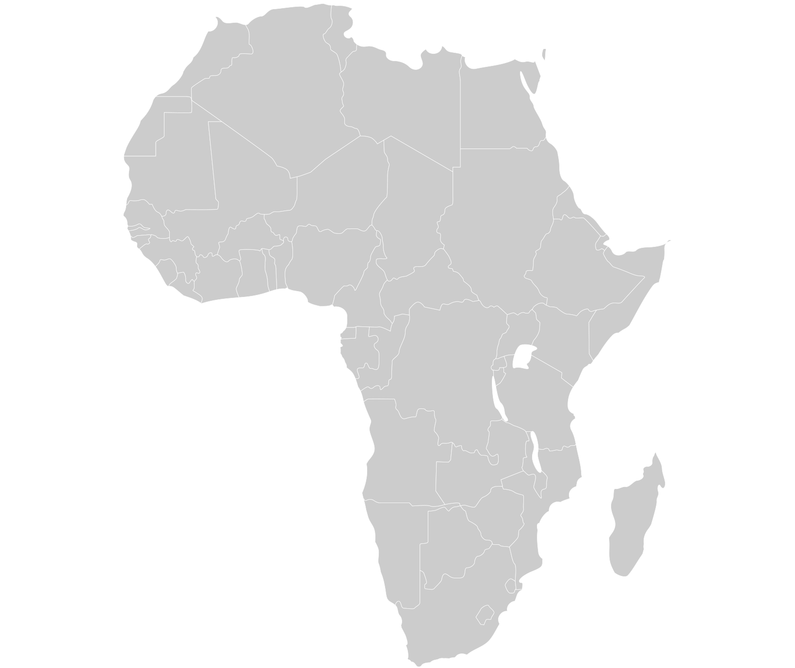 Herzog Karte Standorte Afrika