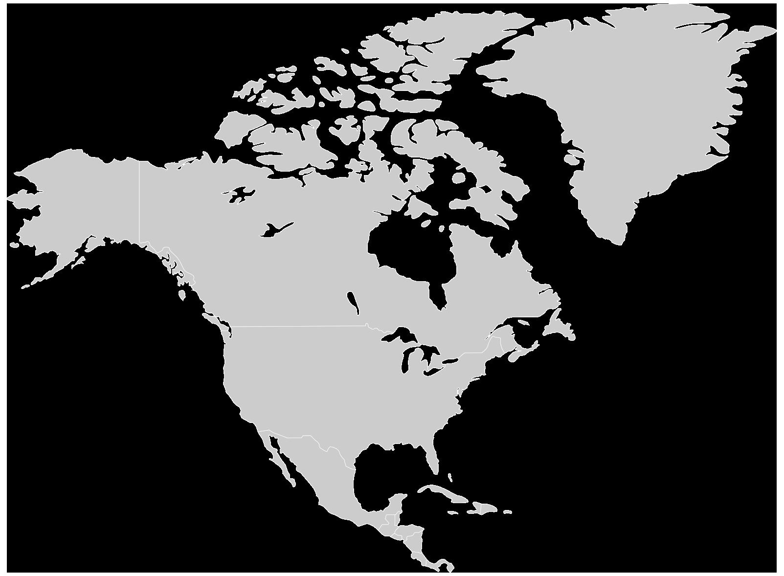 Herzog Karte Standorte Nordamerika